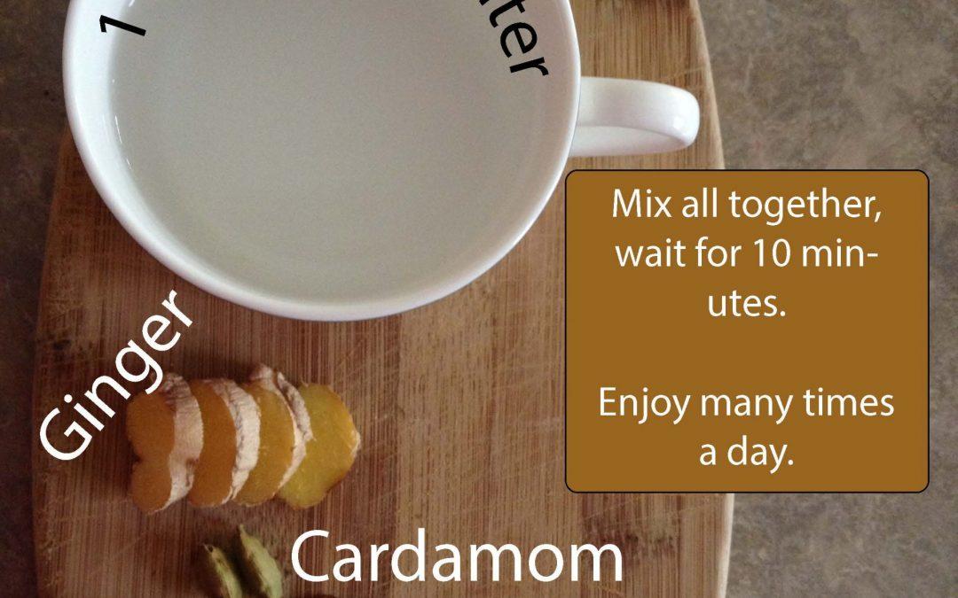 Ginger Tea for Cold or Flu Symptoms